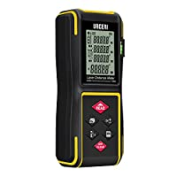 Laser Measure, URCERI Laser Distance Meter 100m Portable Digital Measure Tool with Bubble Level, Backlit LCD 4 Line Display and Unique Mute Function 100m/328ft