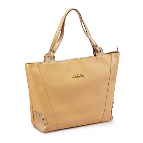 EL CABALLO Bolso de Mujer Shopping con Tachuelas Beige 1020 Outlet - Bolsos para Mujer