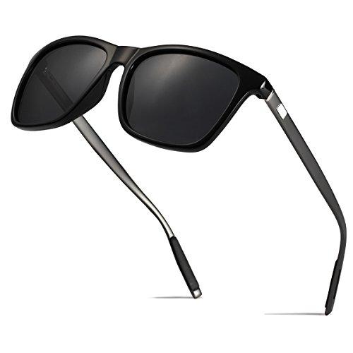 BOYOU Vintage Damen Herren Wayfarer Polarisierte Sonnenbrille UV400 Sportarten Gläser