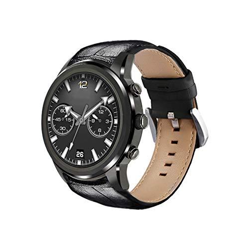 LING NIAN Superleichte Smart Smart Watch, Android5.1 Betriebssystem, Herzfrequenzmessung, Schrittzähler Funktion Usw, RAM 2GB + ROM 16GB Watch,Black 009 Ram