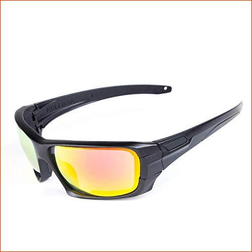 CHENHUI Brille 4 Gläser polarisierte Sonnenbrille UV400 Brille Kugelsichere Radsportbrille @ 3a
