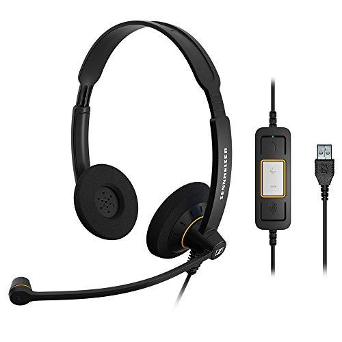 Sennheiser SC60 Headset (binaural/ beidseitig, USB, für MicrosoftLync) Schwarz