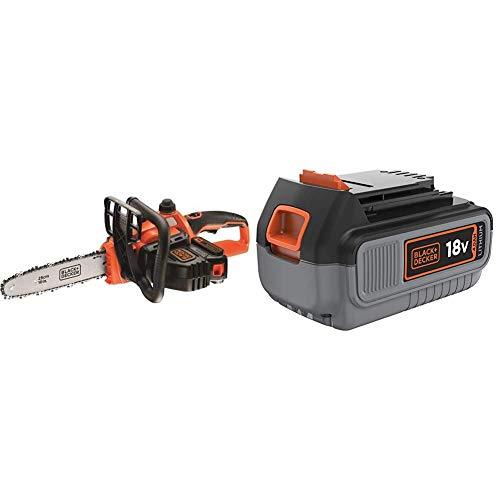 BLACK+DECKER GKC1825L20-QW - Motosierra a batería 18V + Black+Decker BL4018-XJ - Litio 18V / 4.0Ah