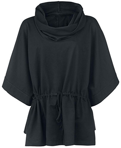 High Neck Poncho Poncho nero S