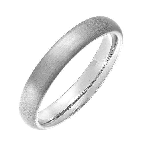 Theia Ring Titan Mattiert, Court Shape, 4mm Ring - Größe 69 (22.0)