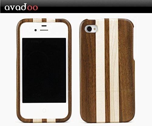 avadoo® iPhone 4/4S Bambus-/Ahornholz (dunkel) Case - Holz bumper Taschen Case Luxus Hülle Series von avadoo® für das iPhone 4/4S Bambus-/Ahornholz Vapor 4 Bumper Case