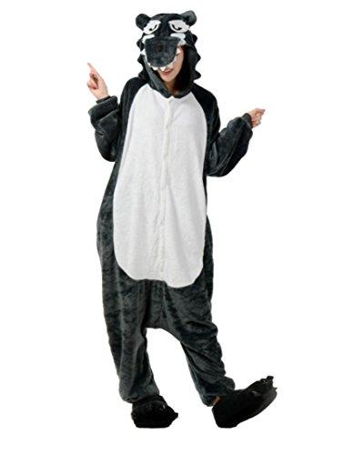 ickfilm Siamesische Kleidung Party Pyjama Strampler Jumpsuit Wolf Geschenk Kostüm XL (Batman Onesies Für Erwachsene)