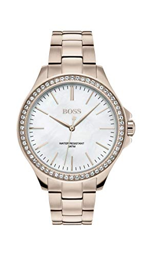 Hugo Boss Womens Analogue Classic Quartz Watch with Stainless Steel Strap 1502459
