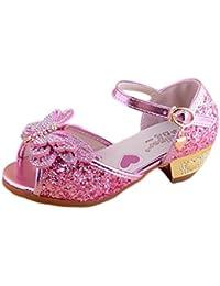 689cc41817ccb YYF Enfant Fille Sandale a Talon Ballerines Chaussures de Princesse Reine  de Neige Comfortable