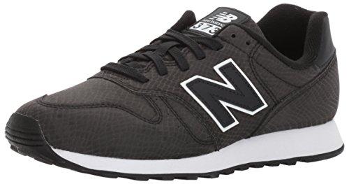 New Balance, Damen Sneaker, Schwarz (Black), 39 EU (6 (Schwarze Mode Jahre 70er)