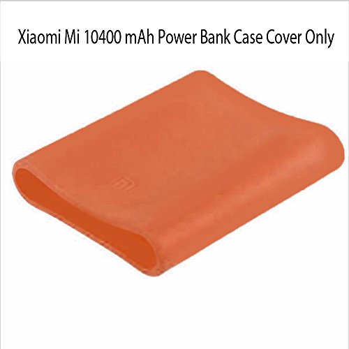Heartly Soft Silicone Protector Case Cover for Xiaomi Mi 10400 mAh Power Bank ( Powerbank Not Included ) - Mobile Orange