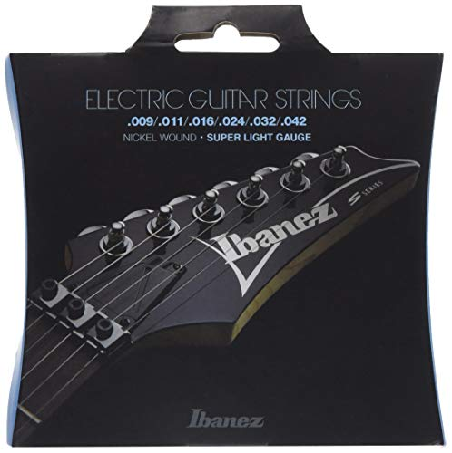 Ibanez IEGS6 E-Gitarre Saite Satz (Nickel Wound, 009-042, Super Light) (String, 009 Electric Guitar)