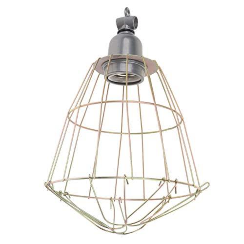 LOVIVER E27 Fassung Lampenschutzkorb für Terrarium -