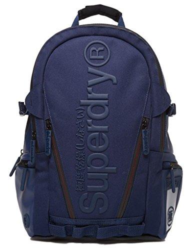 Superdry - Mochila casual azul marino talla única