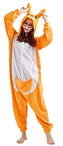 YARBAR Onesies porcelets animale Cosplay pyjamas unisexes adulte Halloween costume de costume Kigurumi Pig Carnaval Orange