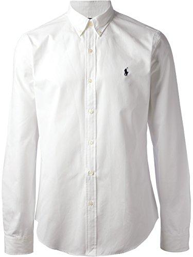 Ralph lauren camicia casual - basic - con bottoni - uomo white medium