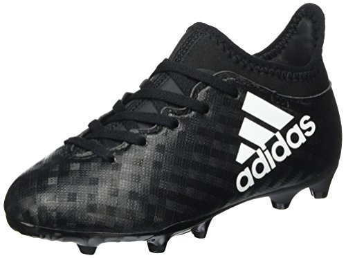 adidas X 16.3 Fg J, Scarpe da Calcio Unisex – Bambini Nero (C Black/ftw White/c Black)