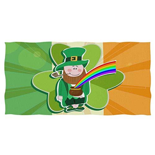 YOWAKi Cute Irish Flag Shamrock Leprechaun Hand Towels Ultra Soft Towel Patricks Day Rainbow Pot Absorbent Hand Towel Guest Bath Towels Washcloth Multipurpose for Hand Face Gym Spa 12