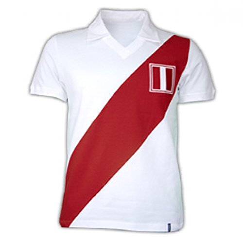 Copa Classics Peru 1970\'s Short Sleeve Retro Shirt 100% cotton
