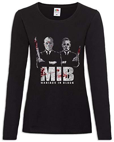 Maniacs In Black Frauen Damen Langarm T-Shirt Größen XS - 2XL