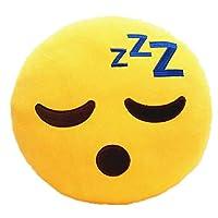 KayMayn Emoji Smiley Emoticon Yellow Round Cushion Pillow 32cm,Emoticon Cute Soft Stuffed Comfortable Plush Smiley Cushion Pillow, Stuffed Plush Soft Toy