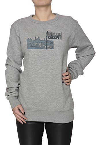 The Adventure Donna Grigio Felpa Felpe Maglione Pullover Grey Women's Sweatshirt Pullover Jumper