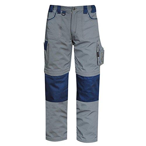 Pantalone multitasche Goodyear in poliestere e cotone colore grigio e blu taglia L