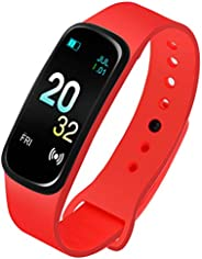 Caviot Multifunctional Red Smart Fitness Tracker Unisex Band Watch - CW1309