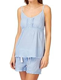 Wolf & York Charbury Pyjama Top - Blue Dobby