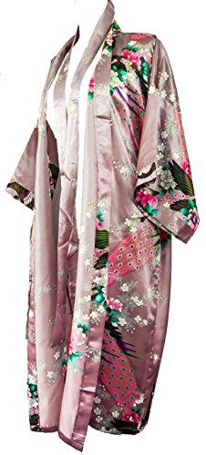 Bademantel Robe Wäsche -Nachtabnutzung Kleidbrautjunfer Junggesellinnenabschied (Rosa Lila (Lilac))