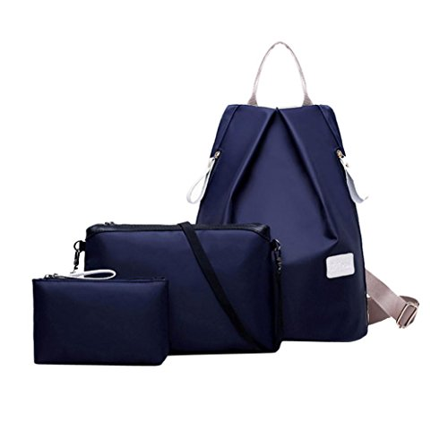 Kolylong Fashion Women Handbag Shoulder Bag Backpack Ladies Purse combination (Blue)
