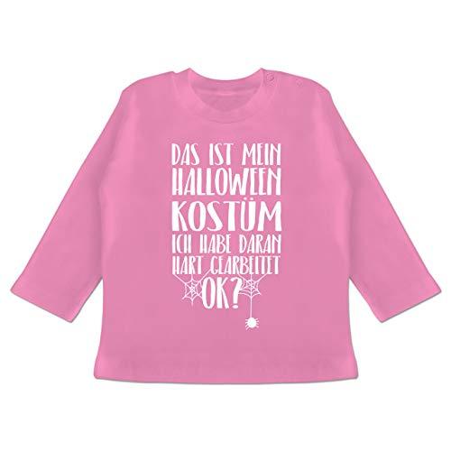 ist Mein Halloween Kostüm - 3-6 Monate - Pink - BZ11 - Baby T-Shirt Langarm ()