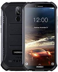 "DOOGEE S40 Outdoor Smartphone Android 9,0, 4G Handy ohne Vertrag Dual SIM, IP68/IP69K Wasserdicht, 5,5"" 4650mAh, Quadcore 2GB RAM 16GB ROM, 8MP+5MP Dual Kamera, NFC Fingerabdruck Gesicht ID - Schwarz"