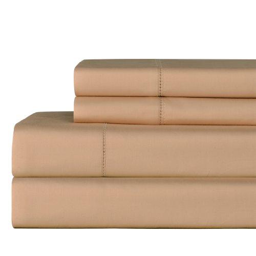 Celeste Home 610Fadenzahl Pima-Baumwolle Kissenbezüge, Standard, sesam -