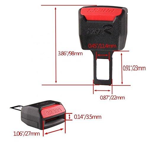 2pcs Universal Car Black Seat Safety Belt Buckle Insert Alarm Stopper Eliminator