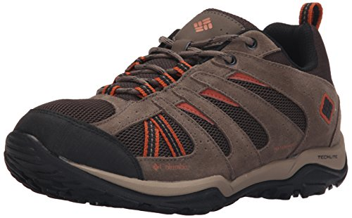 columbia-north-plains-drifter-mens-waterproof-shoes-multicoloured-cordovan-sanguine-8-uk
