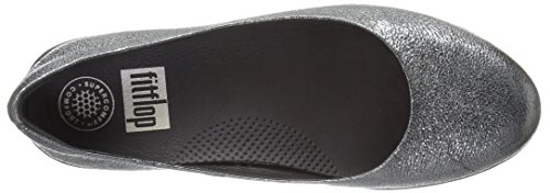 Fitflop Leather Superballerina Tm, Ballerine Donna Anthracite