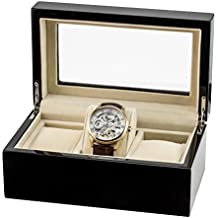 Thomas Earnshaw ES-CBOX-01 - Caja de madera para tres relojes, color negro