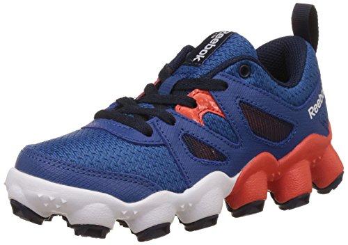 Reebok Boy's Atv19 Turbo Blue,Orange And White Leather Sneakers – 9.5C UK 41jXFemzcUL
