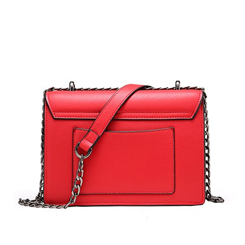 Valin Q0900 Damen Leder Handtaschen Satchel Tote Taschen Schultertaschen Rot