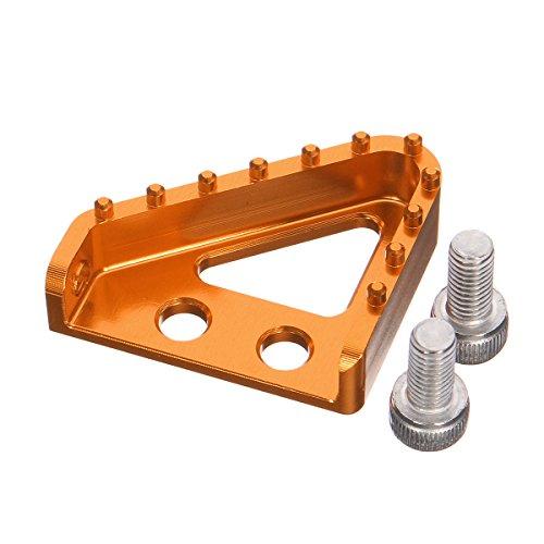 GOZAR CNC Billet Hinterrad Brems Pedal Schritt Platte Spitze Für Enduro Motocross KTM 125-530 Xcf - Dunkel Orange