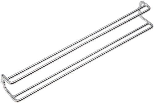 Wenko 5970100 Porta cravatte e cinghia dentro larmadio per vestiti Metallo Cromo 36 x 4.5 x 5 Argento lucido