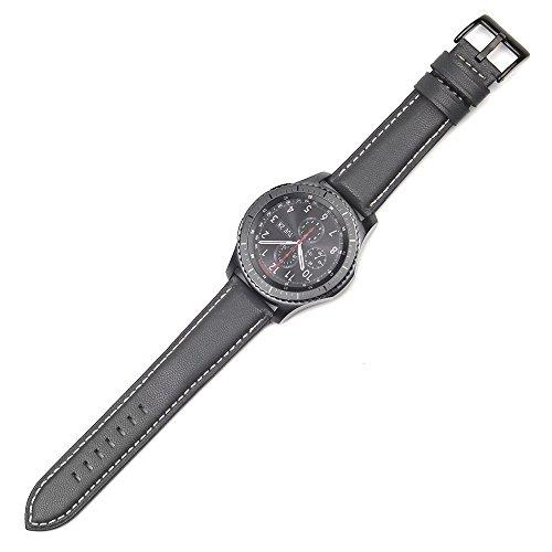 Uhrenarmband 22mm-Einfache Krokodil-Muster 15cm-21cm Lederarmband mit Silber Edelstahlschnalle, Unisex Ersatz Uhrenarmband Leder Ersatzband in 5 Farben für Herren/Frauen (Grau)
