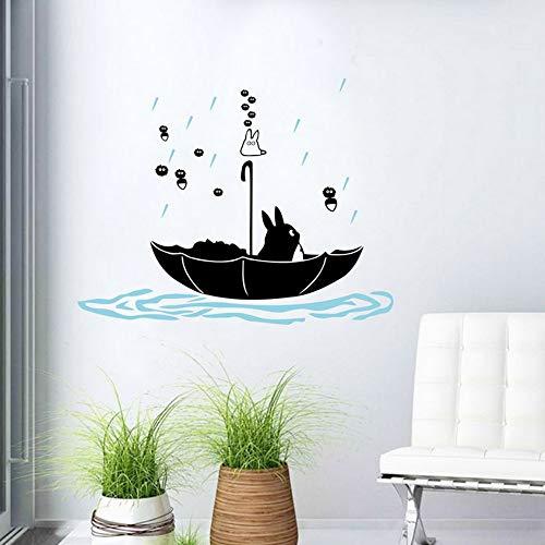 Yzybz Niedlichen Tier Wandkunst Aufkleber Dekoration Regen Regenschirm Wohnkultur Wandaufkleber Für Kinderzimmer Baby Kind ()
