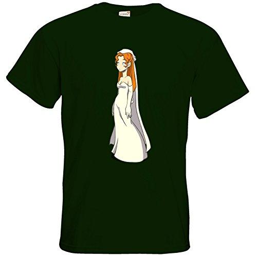 getshirts - Daedalic Official Merchandise - T-Shirt - Deponia Doomsday - Hochzeitsgoal Bottle Green