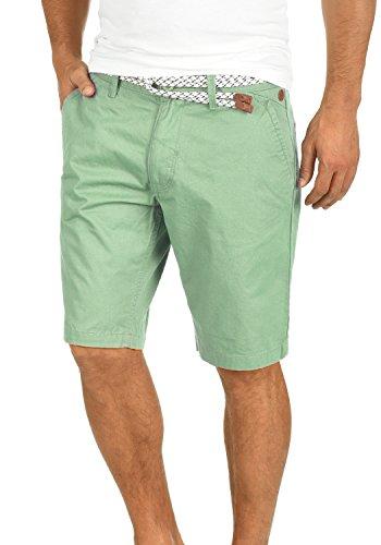 Blend Ragna Herren Chino Shorts Bermuda Kurze Hose Mit Kordel-Gürtel Aus 100% Baumwolle Regular Fit, Größe:S, Farbe:Foam Green - Männer China
