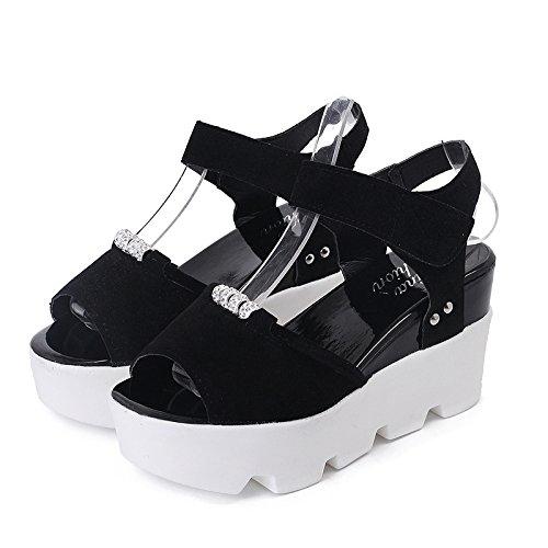 XY&GKSandales d'été Chaussures pour femmes 39 black