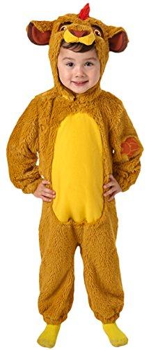 erdbeerloft - Unisex - Kinder Karneval Kostüm Disney Löwe , Senfgelb, Größe 98-104, 3-4 Jahre (Baby Rocky Horror Kostüm)