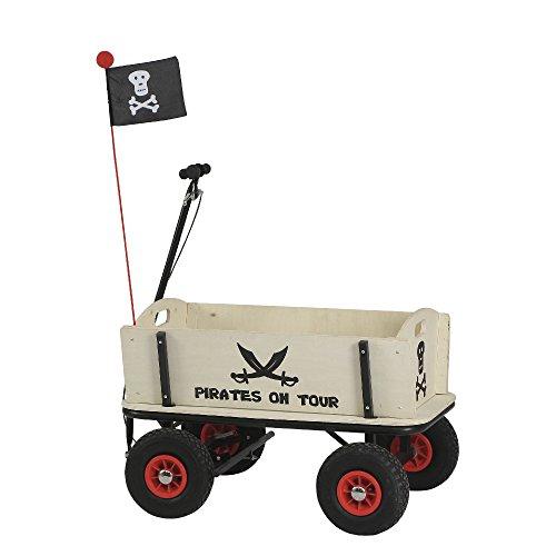 Preisvergleich Produktbild Pinolino 239088 - Pirat Jack Bollerwagen mit Handbremse, 95 x 60 x 58 cm