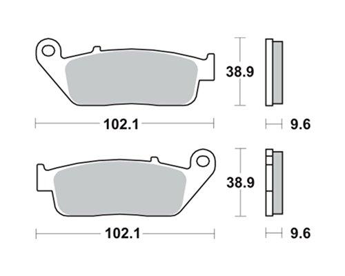 Lucas TRW Bremsbeläge MCB 599Für HONDA GL 1520F6C Valkyrie SC34B 97(hinten)